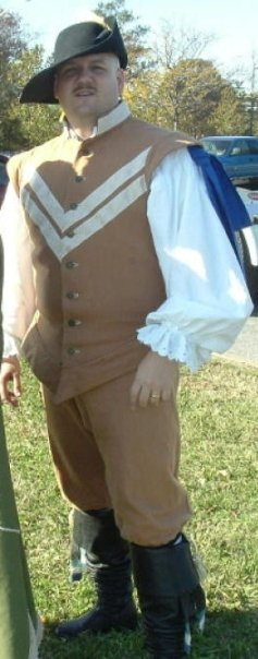 Melissa, My Dashing Husband in a Doublet and pants I made quite a few years ago.