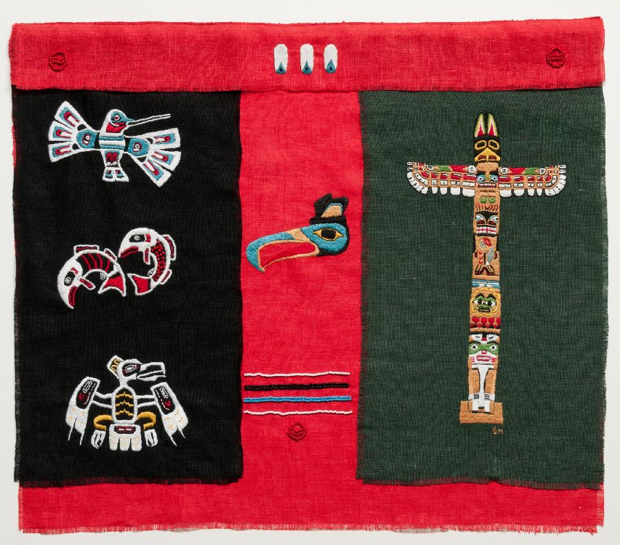Lucia, My piece is entitled Culture Flag: Homage to Northwest Coast Native Americans  This is part of a s...