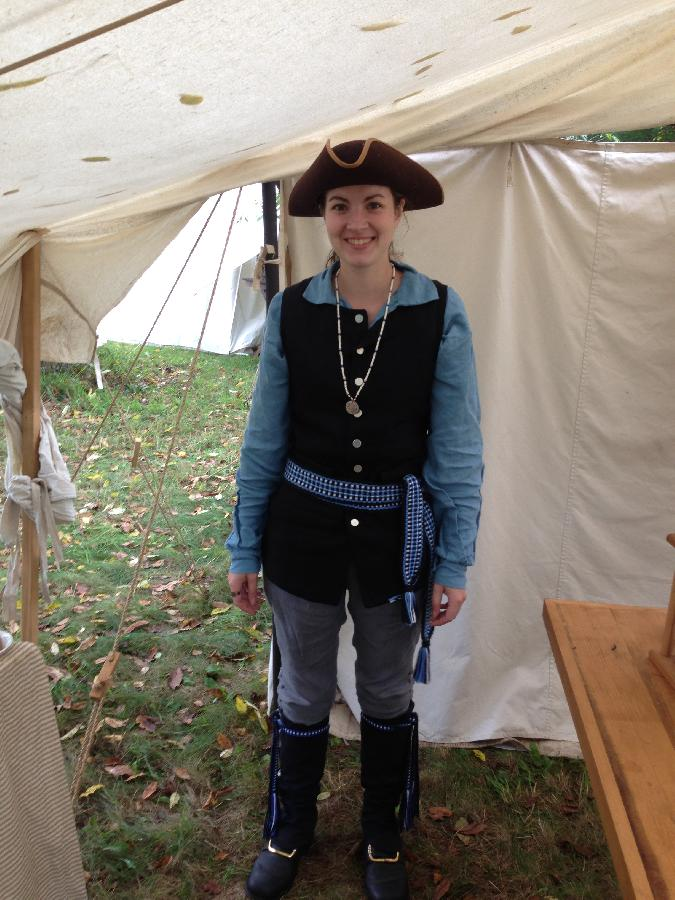 Molly, One of my 18th Century rendezvous outfits. I made it almost entirely out of Fabric-store linen.