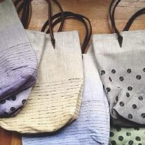 Cara, All my linen bags are hand painted with...