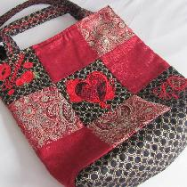 Melissa, Fashion glamour tote. Brocade, shimmer,...