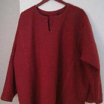 Based on Finnish Viking under tunic, uses 3 yards of heavy-weight linen in Tawny Port.  Layout:...