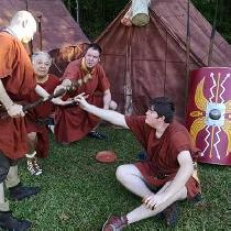 Giving the Centurion his cut.
