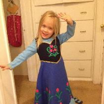 My daughter wanted to be Anna (from Frozen) for Halloween. I decided to use linen as the majorit...