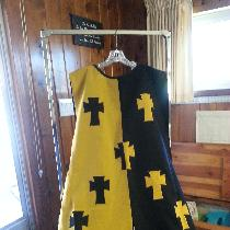 Custom design Sur Cote, very early period.  Custom design.  Medium weight.  Crosses are linen as...