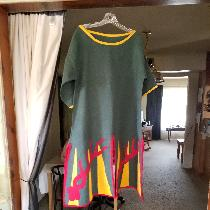Early period Norse fighting tunic.  Custom design.  All medium weight linen, charges are linen a...