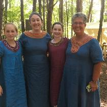 Tenth century Viking for the women of the house of Wildman. The four dresses were made from your...