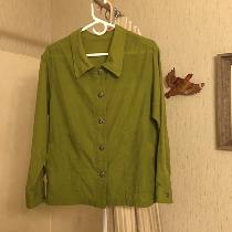 Melanie, Apparel:  Linen Shirt/Jacket with front...