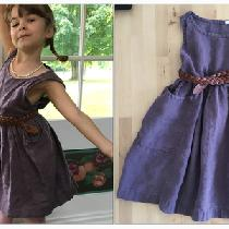 Designed by me, my daughters dress in Montana Grape. No pattern, just winged it. The pockets are...