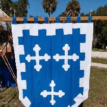 Banner made of Royal Blue and White, ILO 19.