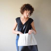 (Apparel Entry) The Pleat-top Tote was designed specifically to keep my shop zero waste-the lini...
