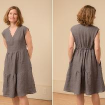 I wanted to create an easy to wear dress that had a little personality. The result was this Vnec...