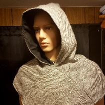 Floor loom woven viking hood, made from alpaca wool. It based the design and  weave structure of...