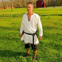 I made this Viking style tunic with trim out of 100% linen. The pants are of linen as well. I lo...