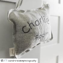 What child doesn't like to see their name on something? This personalized door hanger was made f...