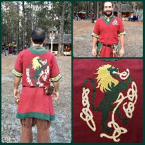 Red Lion Tunic Materials and Tools: 100% linen fabric  Embroidery thread  All purpose Gutermann...