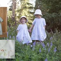 Summer dresses made for my little girls to reflect the wild flowers in our surrounding mountains...