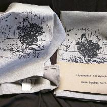Tea Towel - Hens  The art is my mothers designed with history as well as the lovely image. I scr...