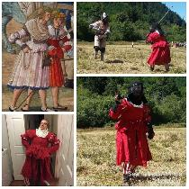The Fighting Frau, an SCA Cut and Thrust legal armored garment. Inspired by a Landsknect Trossfr...