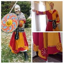 Reenactment/Costume category. This is a Viking tunic made for my husband to wear with his armor...