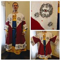 Reenactment/Costume category. This is a Viking inspired coat made from heavy weight linens and p...