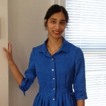 (Apparel) Shirt-dress made with IL030 in Ultramarine and McCall's pattern 6696 (View A skirt + V...