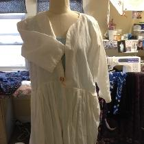 This project may very well be my favorite. This is a jacket made with handkerchief linen. The bu...