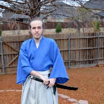 Japanese Hakama pants and Gi.  The Gi is made from IL019 ULTRAMARINE Softened which sewed up alm...