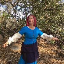 This is my first re-enactment garment. A15th-century style kirtle made from IL019 PACIFIC BLUE S...