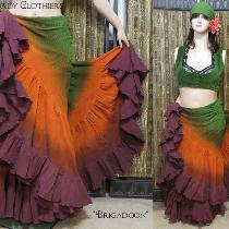 "Tribal Belly Dance or Pirate--""Brigadoon"" color palette featuring Lady Faie's hand dye..."