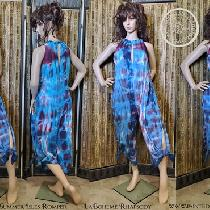 "Summer Isle Romper by Lady Faie and hand dyed in ""LaBoheme Rhapsody"" color palette."