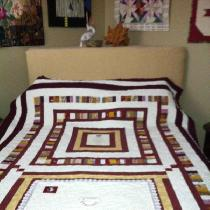 I made this quilt using the colors of FSU & the logos from that school as a gift for a g...