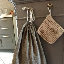 Bread bag in French Kitchen - 100% linen