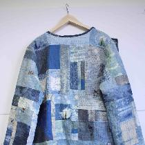 To make this jacket, I used every scrap of linen I had and even some old linen napkins.  I indig...