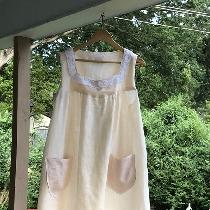 A cool summer nightgown in Froth IL029, great for sultry nights in North Carolina.