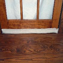 This is my homemade door sweep using IL019 Mix Natural.  I had tried the store bought version an...
