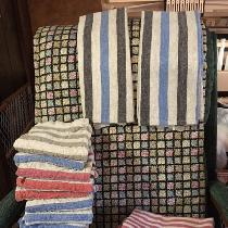 Linen towels made from the IL073 Striped rustic linen - Home Decor.