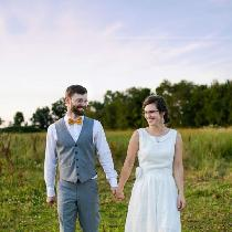 Wedding dress made with IL019 bleached/softened. Accented with lace from my sister's wedding dre...