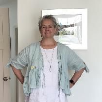 The jacket and pants are made from Tina Givens patterns using linen from fabrics-store.com. They...