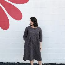 I recently made inide pattern from Anna Allen; it is called the Demeter Dress. It is very simple...