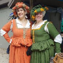 Renaissance festival costumes made from hat to hem,  chemise to sleeves, from beautiful fabric-s...