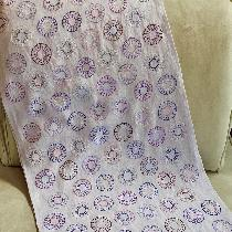 Hand embroidered shawl made with IL020 Silver Lilac.