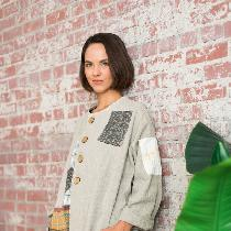 Linen tunic/jacket inspired by Japanese boro stitching.  Layers of linen hand stitched, similar...