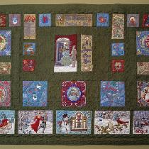 Victorian Christmas. This is a 40 X 80 embroidered quilt with over 1,000,000 stitches. First tim...