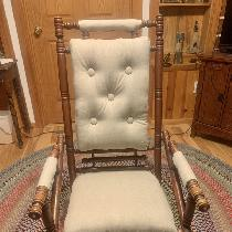 I did a restoration of a 1880's wooden rocking chair. I used the Rustic linen to help preserve a...