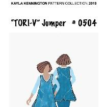 This is my Tori-V jumper tunic pattern #0504 available from Kayla Kennington Pattern Collection...