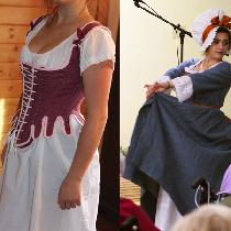 We have group of women perform historic fashion shows to public for free.  Ensembles are deeply...