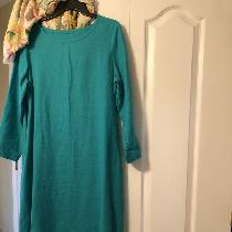 Dress made with your linen ceramic signature and with one of your patterns. I love the color I l...