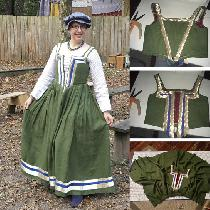 I've made a dress inspired by the picture 'Peasant Women in the Region Surrounding Venice, Seen...