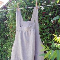Short linen smock. Fits sizes medium to xxl. Available for purchase at simplycrone.etsy.com